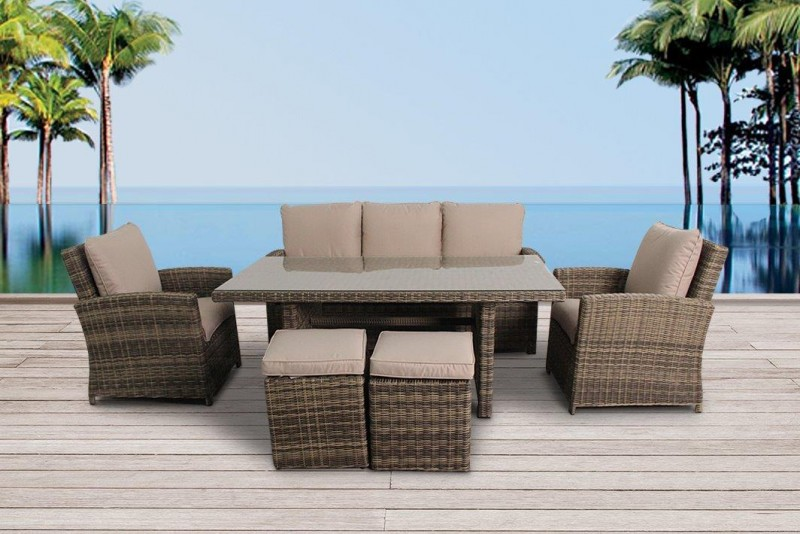 Rattan Garden Furniture Brisbane Lounge Dining Natural Round