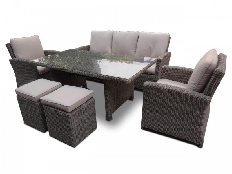 Rattan Garden Furniture Set Brisbane Dining Natural Round