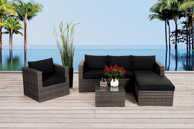 meubles de jardin meubles en rotin rattan lounge table manger en rotin bo te de. Black Bedroom Furniture Sets. Home Design Ideas
