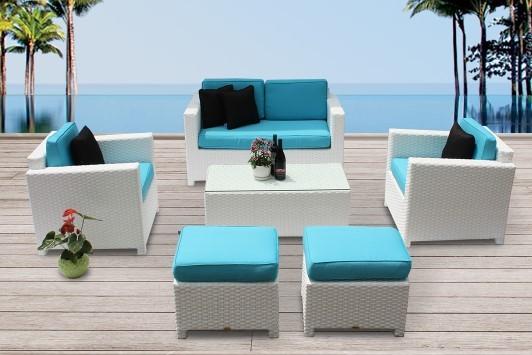 rattan lounge ausverkauf edle rattanm bel in weiss bona dea mit gratis gartenm bel zubeh r. Black Bedroom Furniture Sets. Home Design Ideas