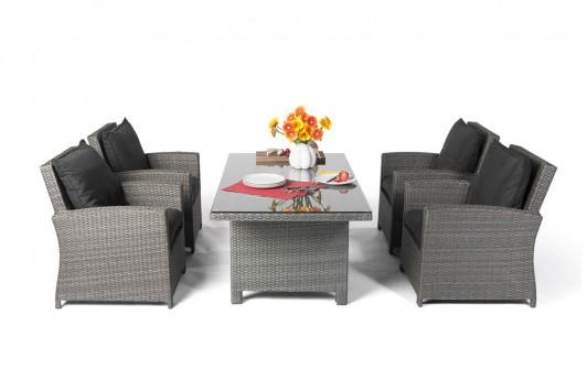 gartenm bel gartentische gartenst hle rattan tisch oklahoma 170cm mix grau. Black Bedroom Furniture Sets. Home Design Ideas