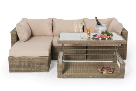 gartenm bel rattanm bel estelle rattan lounge natural round. Black Bedroom Furniture Sets. Home Design Ideas