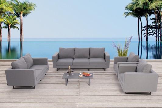 wasserfeste lounge mao gartenm bel mit wetterfesten lounge polster jederzeit sitzbereit ohne. Black Bedroom Furniture Sets. Home Design Ideas