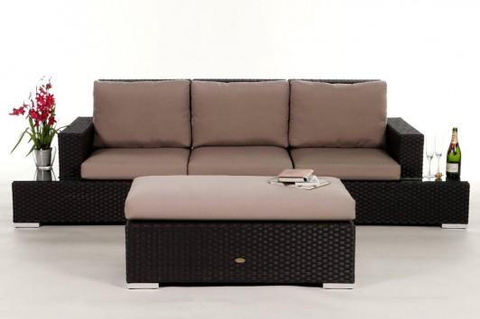 gartenm bel gartenmobiliar gartentische gartenst hle gartenliege lounge sandoy braun. Black Bedroom Furniture Sets. Home Design Ideas