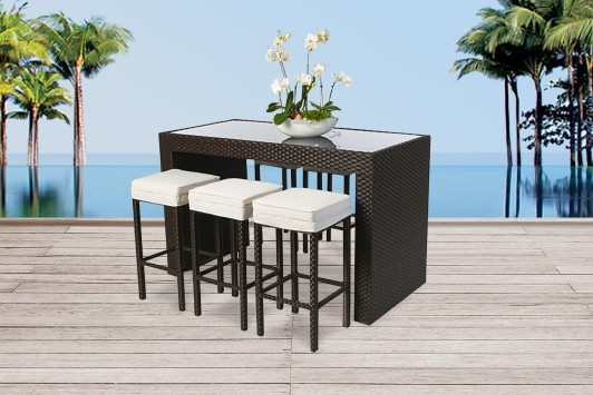 gartenm bel rattan gartentische gartenst hle gartenliege bar marilyn braun. Black Bedroom Furniture Sets. Home Design Ideas