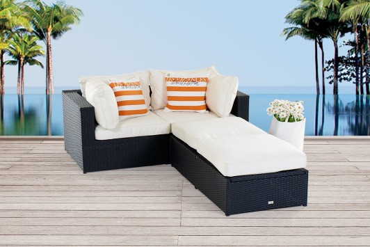 gartenm bel gartenmobiliar gartentische gartenst hle m bel ola rattan lounge schwarz. Black Bedroom Furniture Sets. Home Design Ideas