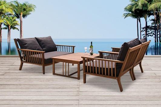 Gartenmöbel lounge holz  Holz Gartenmöbel - Lounge - Sessel - Stuhl - Tisch - Bank - Belleair
