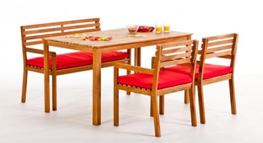 gartenm bel holz lounge sessel stuhl tisch bank santiago. Black Bedroom Furniture Sets. Home Design Ideas