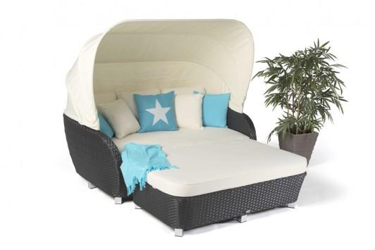 rattan liege sonnenliege malibu schwarz gartenm bel rattanm bel. Black Bedroom Furniture Sets. Home Design Ideas