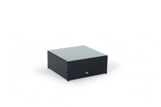 Gartenmobel Tisch Alu Teak :   Gartenmöbel  Liegestuhl  Rattan Lounge Ola Braun  Glasplatte