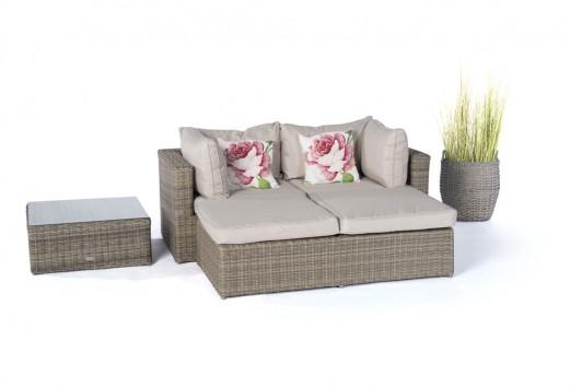 Gartenmöbel  Rattanmöbel  Ola Rattan Lounge Natural Round => Gartenmobel Set Rund