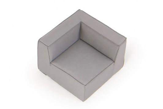 outdoor lounge allwetter lounge loungem bel f r draussen eckteil grau. Black Bedroom Furniture Sets. Home Design Ideas