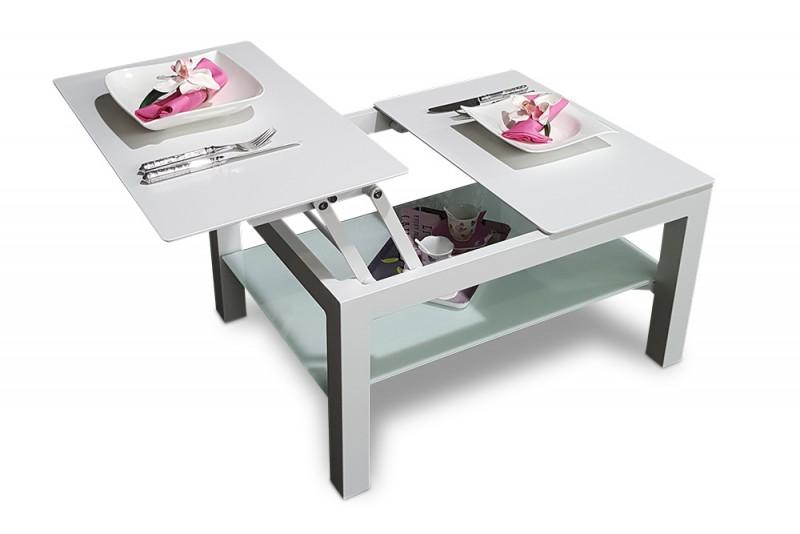 Flexibler Loungetisch der auch als Esstisch genutzt werden kann. Der ...
