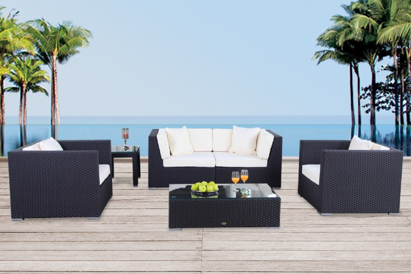 awesome gartenmoebel rattan lounge ideas ideas design. Black Bedroom Furniture Sets. Home Design Ideas