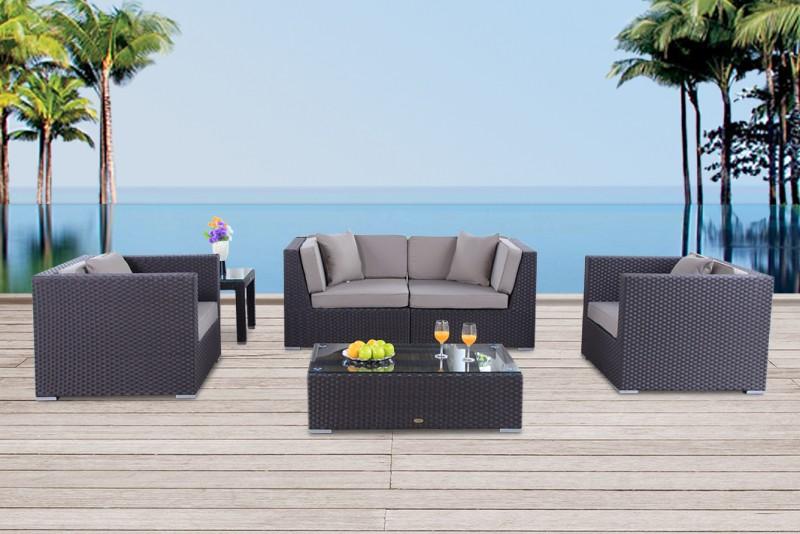 Schon Gartenmöbel Rattan Lounge Navarro Braun