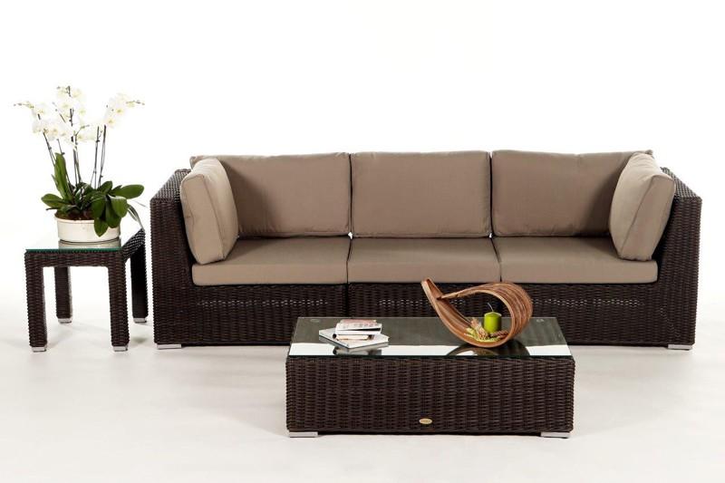 Rattan lounge braun  Gartenmöbel - Gartenmobiliar - Gartentische - Gartenstühle ...