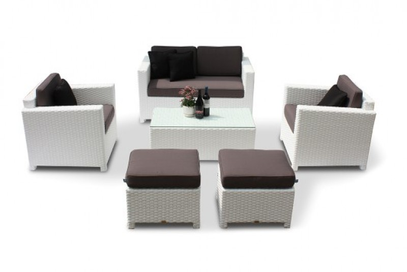 rattan lounge ausverkauf edle rattanm bel in weiss bona. Black Bedroom Furniture Sets. Home Design Ideas
