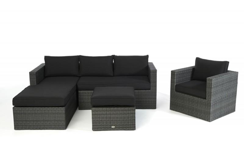 Rattan lounge schwarz grau  Gartenmöbel - Gartenmobiliar - Gartentische - Gartenstühle ...