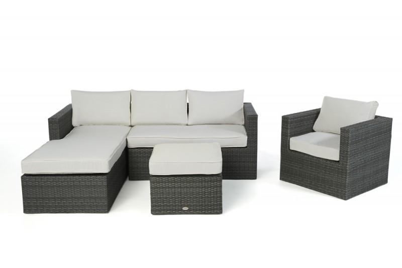 Rattan lounge grau  Gartenmöbel - Gartenmobiliar - Gartentische - Gartenstühle ...