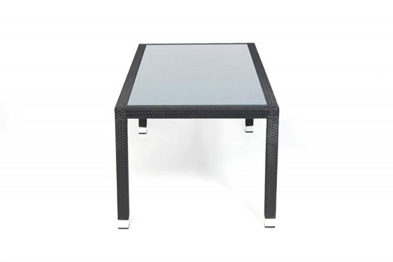 edler gartentisch mit milchglaseinlage und stapelbaren. Black Bedroom Furniture Sets. Home Design Ideas