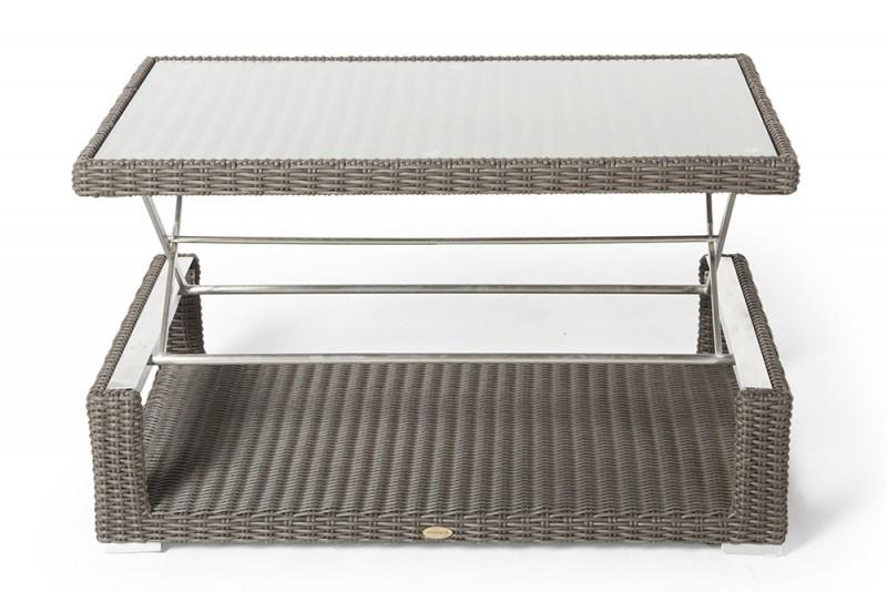 Das Gartenmöbel Set Cloe Bietet Zwei In Einem. Durch Den Verstellbaren  Tisch Haben Sie Die Möglichkeit Den Loungetisch In Einen Esstisch  Umzuwandeln.