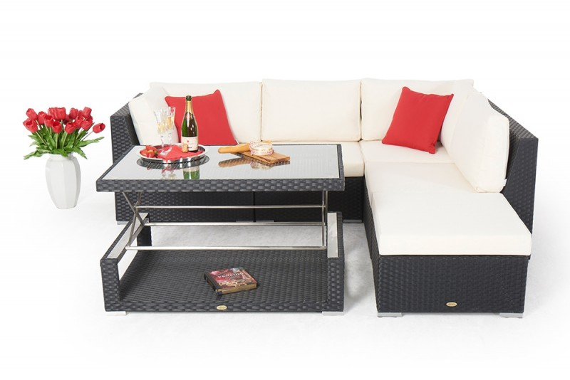 gartenm bel rattanm bel cloe rattan lounge schwarz. Black Bedroom Furniture Sets. Home Design Ideas
