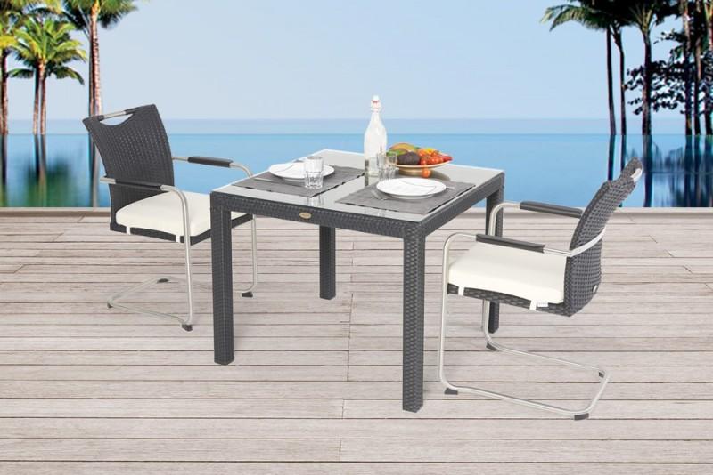 gartenm bel gartenmobiliar gartentische gartenst hle colin dining schwarz 90cm. Black Bedroom Furniture Sets. Home Design Ideas