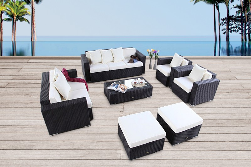 Best Gartenmbel Melbourne Rattan Lounge Braun With Rattan Schwarz
