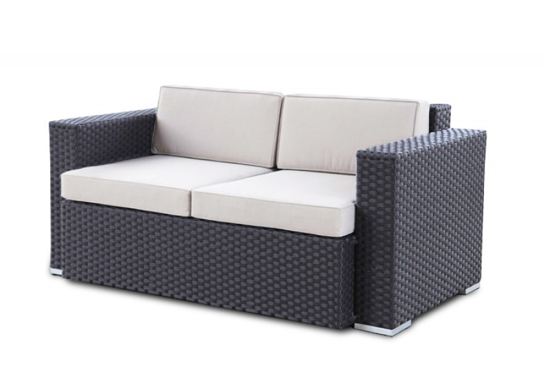 gartenm bel gartenmobiliar gartentische gartenst hle lounge melbourne 2er sofa braun. Black Bedroom Furniture Sets. Home Design Ideas