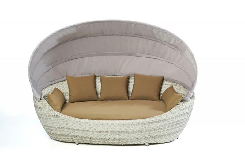 gartenm bel gartenmobiliar gartentische gartenst hle liege happy sun berz ge sandbraun. Black Bedroom Furniture Sets. Home Design Ideas