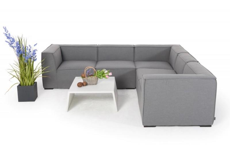 gartenm bel gartenlounge outdoor lounge elvira m bel grau. Black Bedroom Furniture Sets. Home Design Ideas
