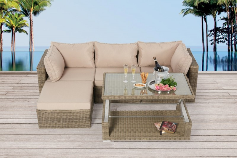 Estelle Rattan Lounge Natural Round
