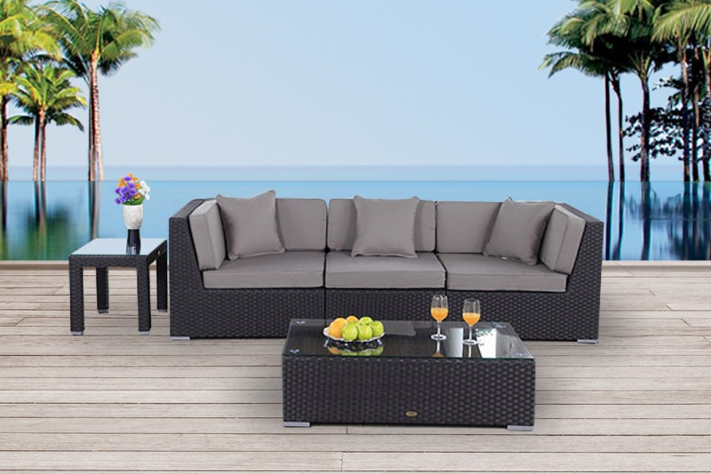 m bel f r garten gartentische gartenst hle rattan lounge barbados braun. Black Bedroom Furniture Sets. Home Design Ideas