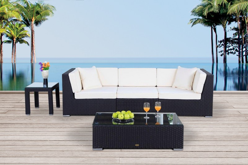 rattan lounge m bel schwarz. Black Bedroom Furniture Sets. Home Design Ideas