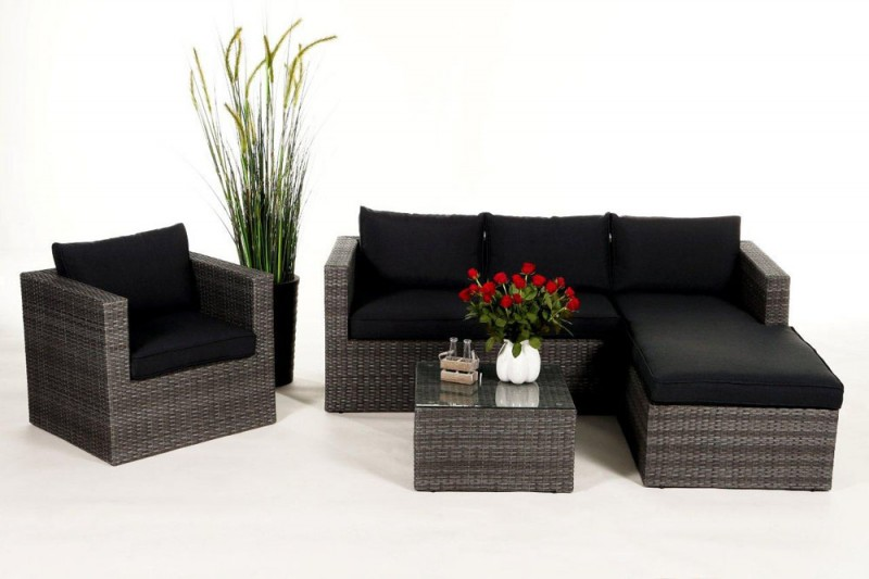 gartenm bel gartenmobiliar gartentische gartenst hle bombay lounge mix grau. Black Bedroom Furniture Sets. Home Design Ideas