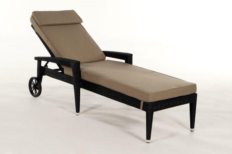 gartenm bel gartenmobiliar gartentische gartenst hle sonnenliege cairns schwarz. Black Bedroom Furniture Sets. Home Design Ideas