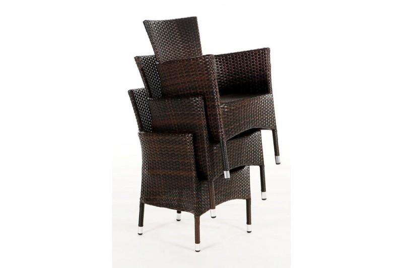 gartenm bel gartenmobiliar gartentische rattan tisch gartenst hle manitu 220 mix braun. Black Bedroom Furniture Sets. Home Design Ideas