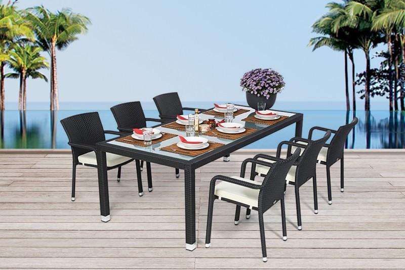gartentische gartenst hle esstisch rattan tisch. Black Bedroom Furniture Sets. Home Design Ideas