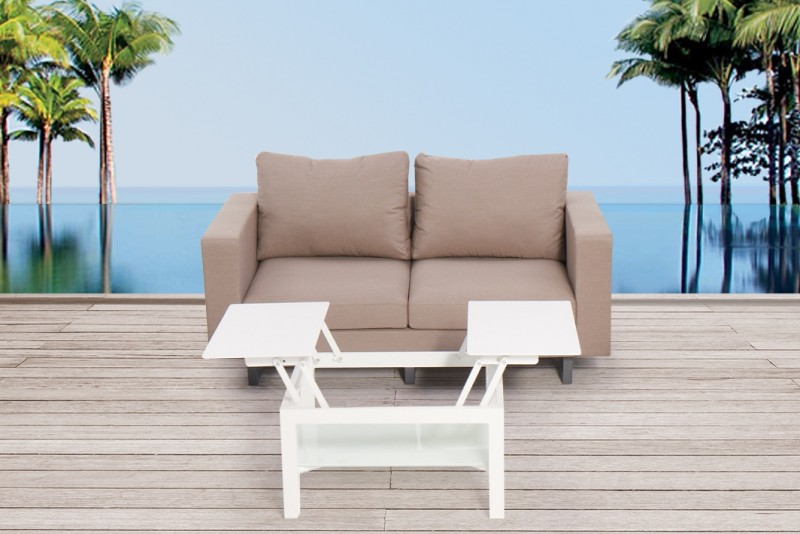 gartenm bel outdoor lounge sunita 2er sofa sitzpolster wetter wasserfest. Black Bedroom Furniture Sets. Home Design Ideas