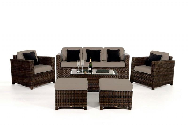Elegant Gartenmoebel Rattan Lounge | Gartenbänke Ideen