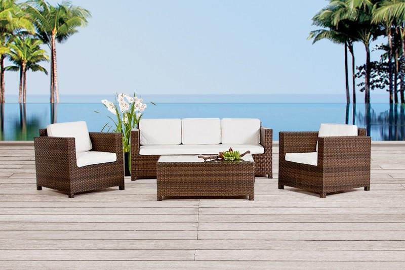 gartenm bel gartenmobiliar rattan lounge bona dea. Black Bedroom Furniture Sets. Home Design Ideas