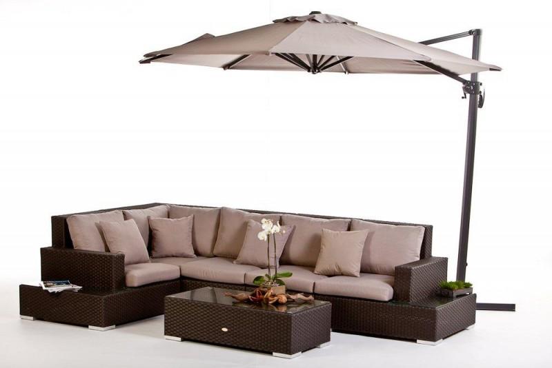 Gartenmbel Lounge Sofa City Braun Mit.