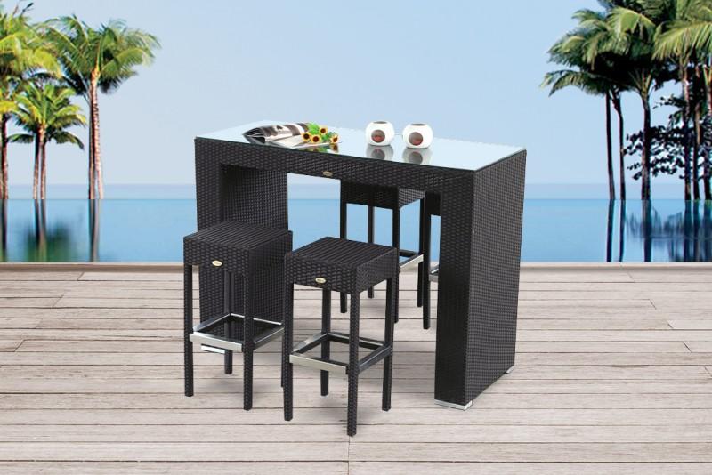 gartenm bel gartenmobiliar gartentische gartenst hle gartenliege bar nelson schwarz. Black Bedroom Furniture Sets. Home Design Ideas