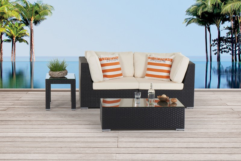 Great Bella Gartenmöbel Rattan Lounge Schwarz Awesome Ideas