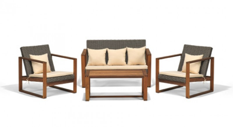 Cheap Gartenmobel Set Holz Alu Rattan Lounge Sofa Set Picture On Holz  Lounge Madeira With Gartenmbel Holz Alu Set
