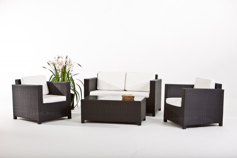 Gartenmobel Design Replica :   Gartenmobiliar  Rattan Lounge  Bona Rattanmoebel  schwarz