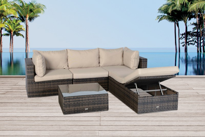 gartenm bel rattanm bel ibiza rattan lounge braun. Black Bedroom Furniture Sets. Home Design Ideas