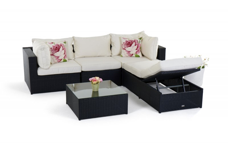 gartenmobel rattan lounge reduziert. Black Bedroom Furniture Sets. Home Design Ideas
