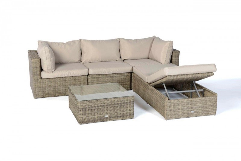 Rattan lounge sofas ibiza rattan lounge natural round - Gartenmobel lounge rattan ...