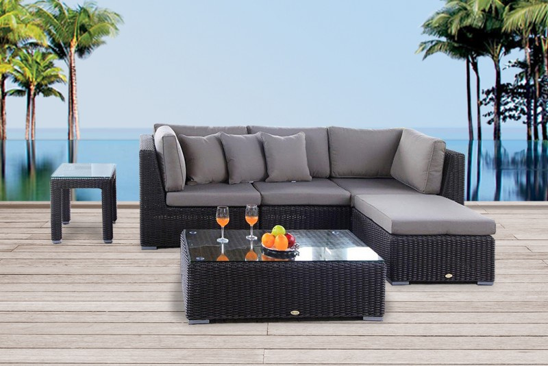 gartenm bel rattanm bel maui rattan lounge round braun. Black Bedroom Furniture Sets. Home Design Ideas